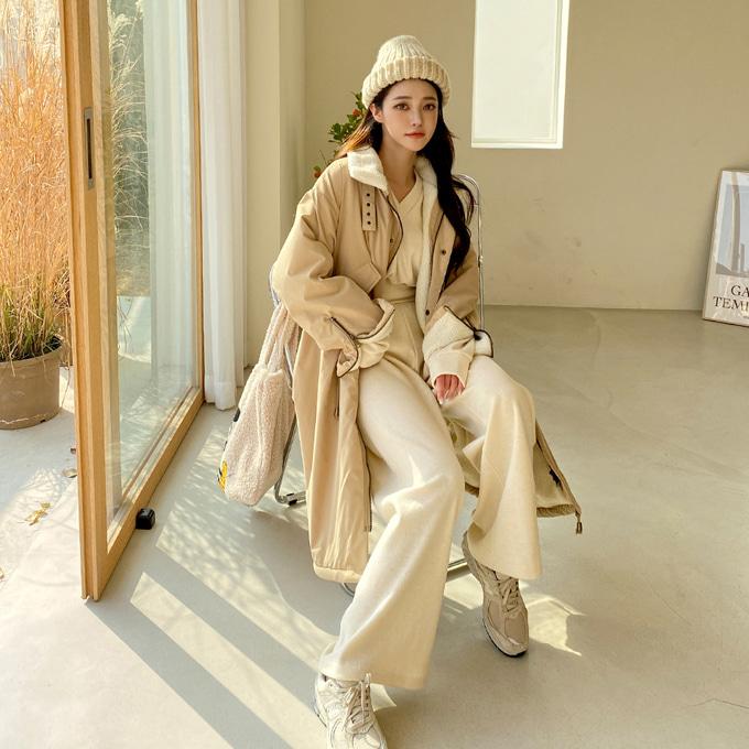 wingsmall-사실난말야(양털야상점퍼)♡韓國女裝外套