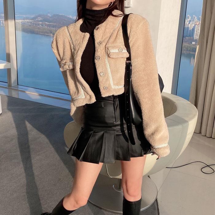 hypnotic-보람크롭 가디건 [어깨패드]♡韓國女裝外套