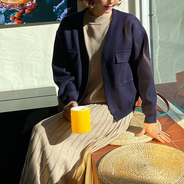 lemite-오픈해준 니트가디건♡韓國女裝外套