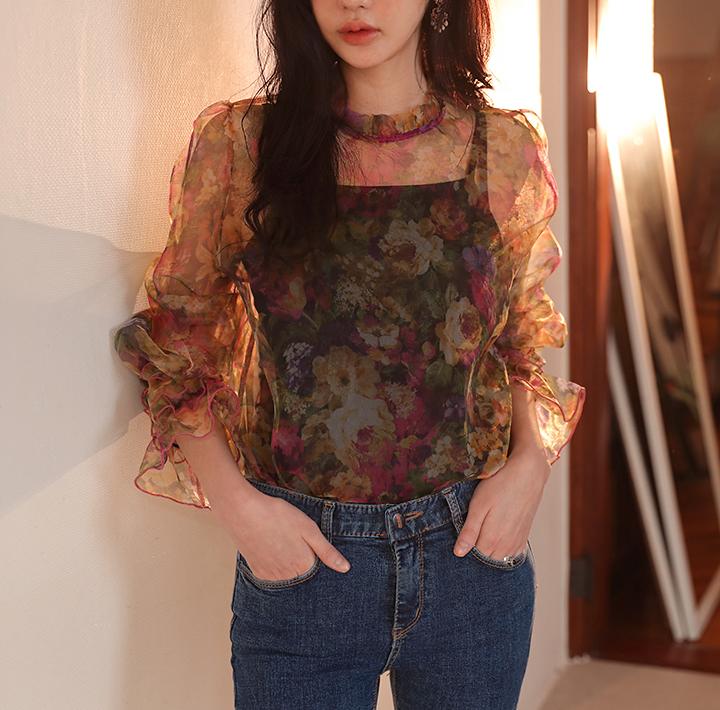 common-unique--글래머러스 시스루 블라우스♡韓國女裝上衣