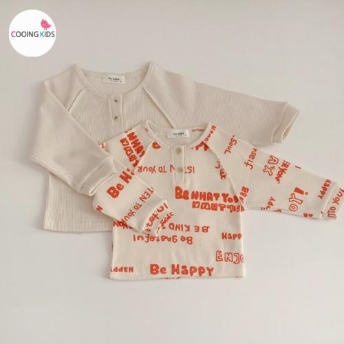 cooingkids-E와플단작티셔츠 아기 유아 아동 여아 티셔츠♡韓國童裝上衣