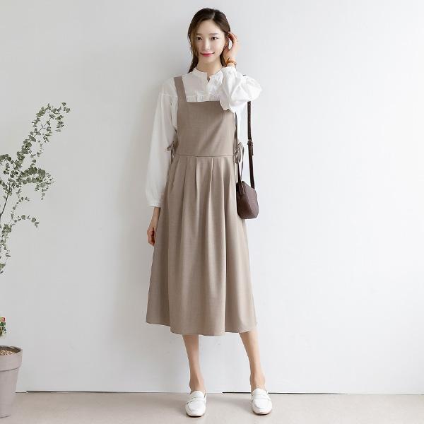 misscandy-[no.19211 사이드리본 플리츠 민소매원피스]♡韓國女裝連身裙
