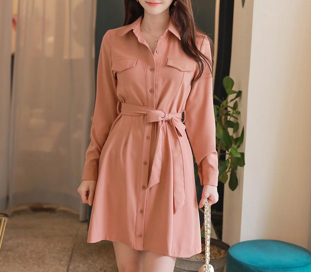 myfiona-심플리포켓*ops/a0816 - 러블리 로맨틱룩 1위 쇼핑몰 피오나♡韓國女裝連身裙