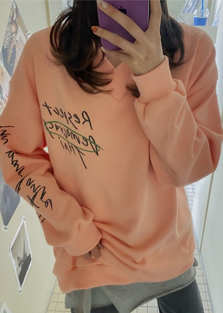 loloten-스펙트 V넥 맨투맨♡韓國女裝上衣