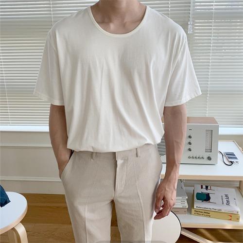 modernsweet-유넥 모달 반팔 티 3color - 모던스윗(modernsweet)♡韓國男裝上衣