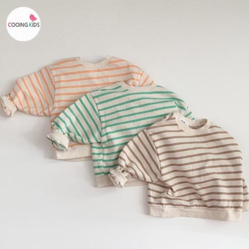cooingkids-E쭈리단가라맨투맨티 아기 유아 아동 남아 티셔츠 맨투맨♡韓國童裝上衣