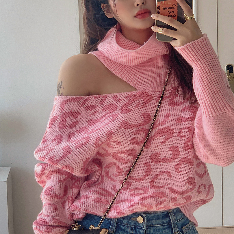 liphop-[레오트임터틀넥니트]♡韓國女裝上衣