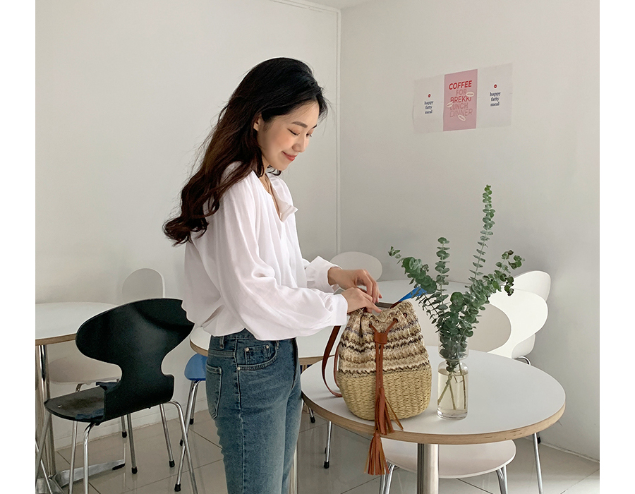 frombeginning-미쏘니 라탄버킷숄더백♡韓國女裝袋
