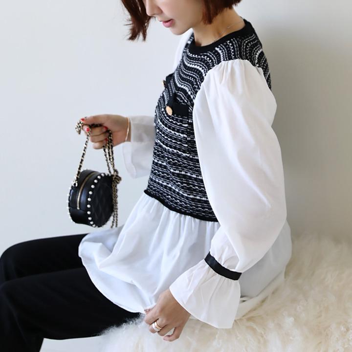 lemite-크로비 블라우스♡韓國女裝上衣