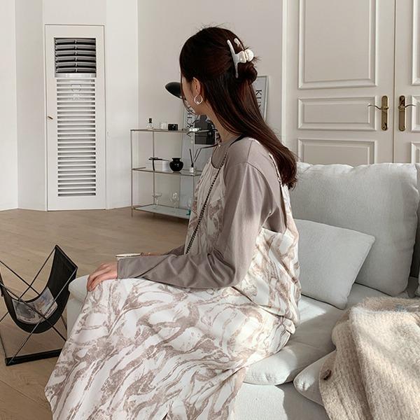 66girls-마블뷔스티에롱OPS♡韓國女裝連身裙
