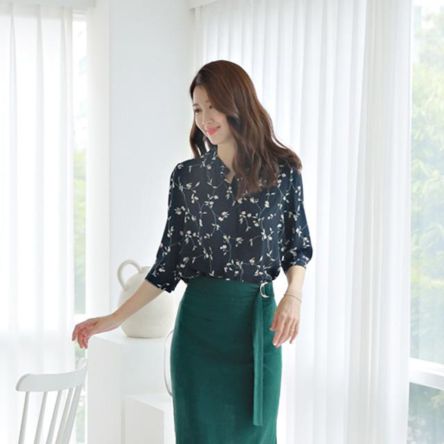 tiramisu-78메리플라워쉬폰블라우스♡韓國女裝上衣