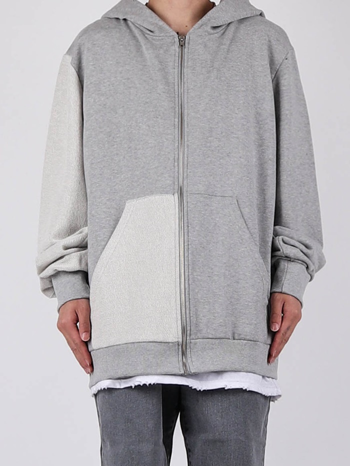 justyoung-RG Cutting Color Hood Zip-Up (2color)♡韓國男裝外套