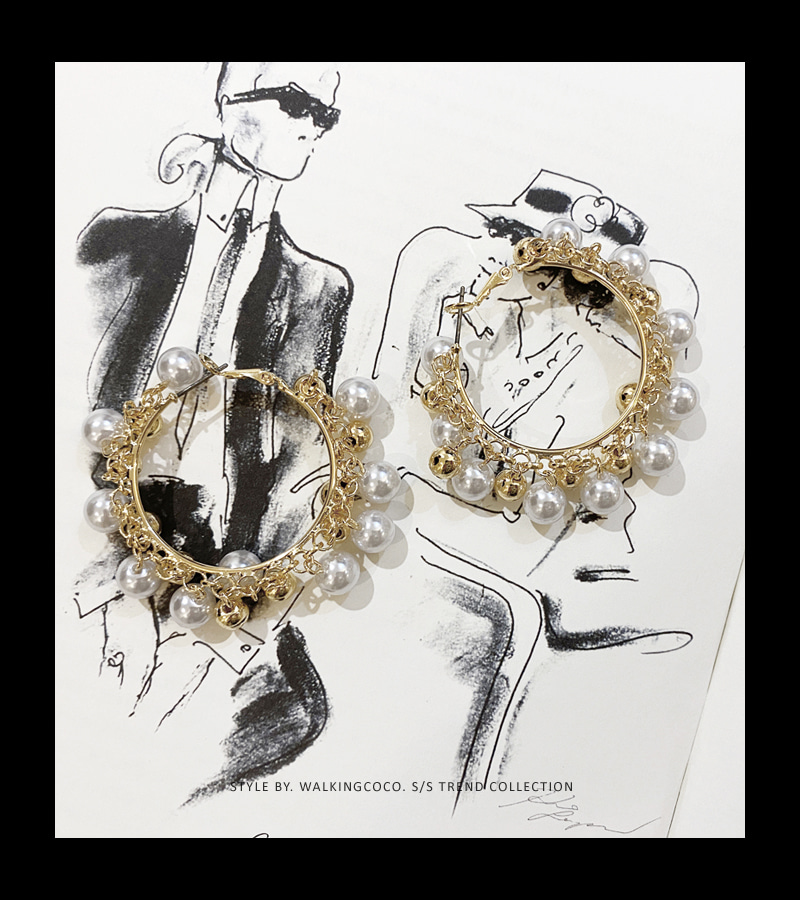 walkingcoco-tambourine earrings♡韓國女裝飾品