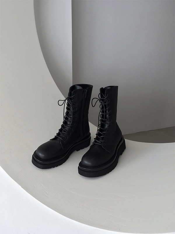 11am-레이스업 부츠♡韓國女裝鞋