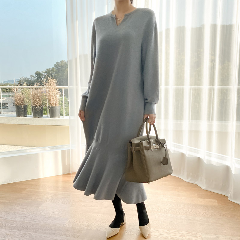 attrangs-op10049  카미 훌 니트 원피스♡韓國女裝連身裙