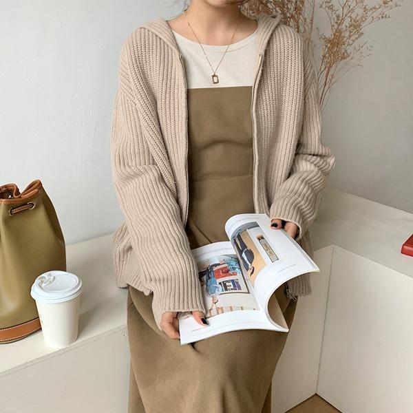 66girls-캐시골지후드집업♡韓國女裝外套
