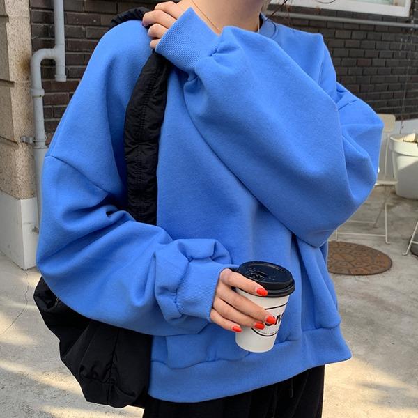66girls-이너프벌룬맨투맨 (기모)♡韓國女裝上衣