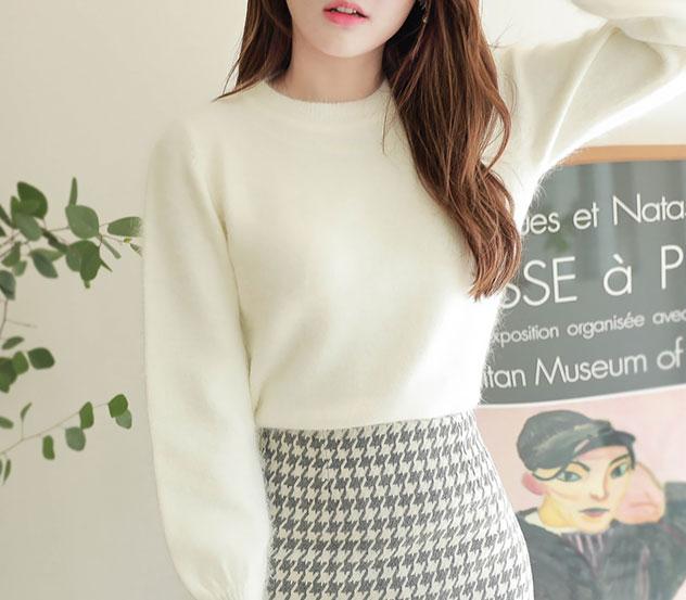myfiona-플레인앙고라*knit/m5508 - 러블리 로맨틱룩 1위 쇼핑몰 피오나♡韓國女裝上衣