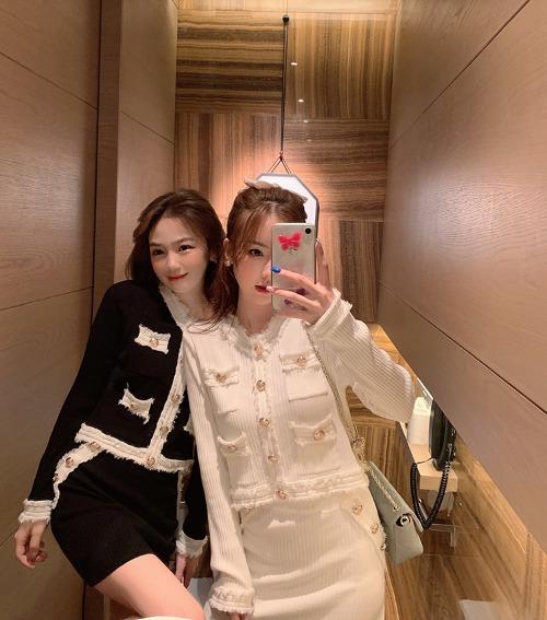 zanne-니쥬 트위드 니트 투피스 - 잔느♡韓國女裝套裝