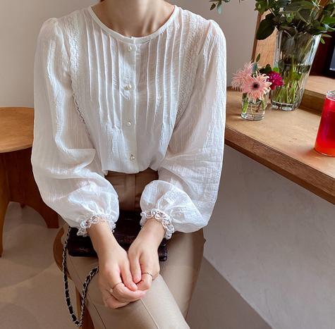 leelin-[슈가링클 잇레스 블라우스[size:F(55~66)]]♡韓國女裝上衣
