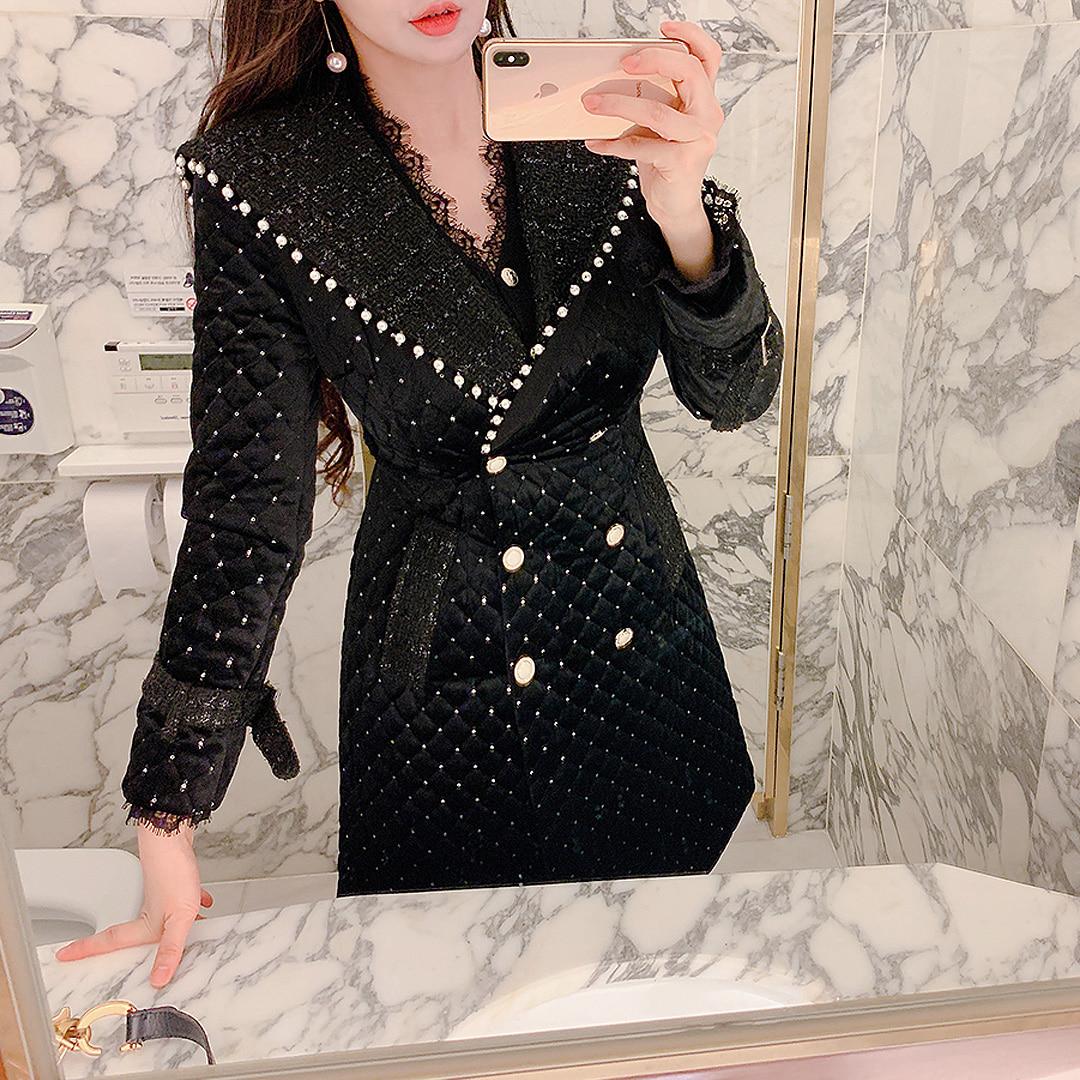 marlangrouge-코아드벨벳퀼팅코트 CT♡韓國女裝外套