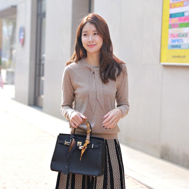 tiramisu-9008타이리본니트♡韓國女裝上衣