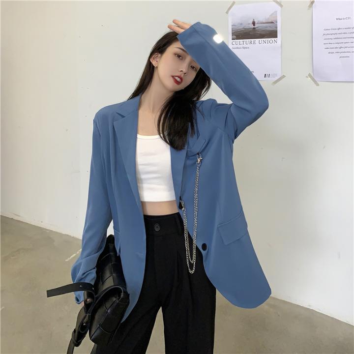 1015mk-[2컬러] 시크 카라 수트 자켓♡韓國女裝外套