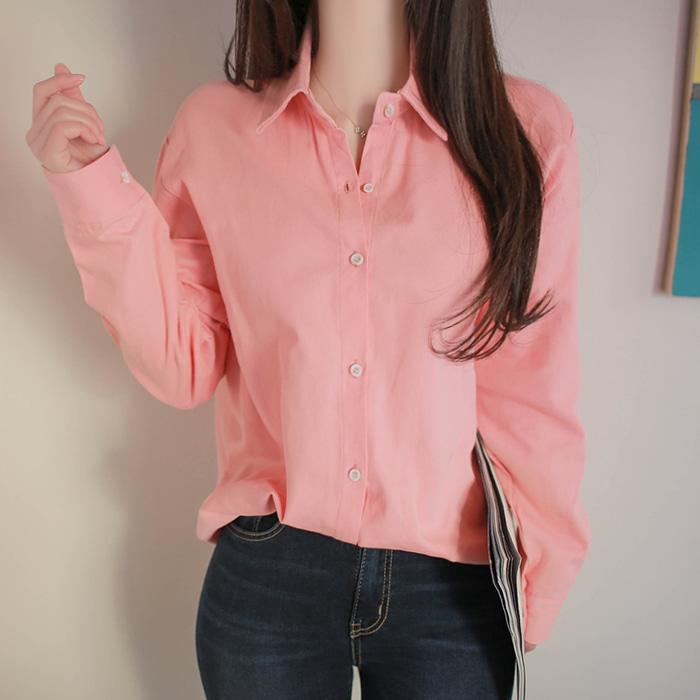 myfiona-베이직면 파스텔 셔츠 a1187 - 러블리 로맨틱룩 1위 쇼핑몰 피오나♡韓國女裝上衣
