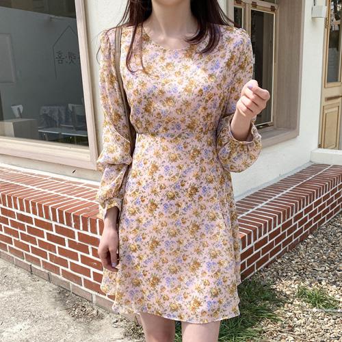 minibbong-[당일발송][MINI.L] 블링 플라워 미니원피스♡韓國女裝連身裙