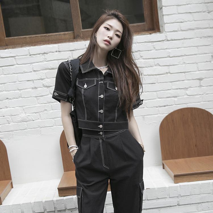 dint-[J1021 키넬 스티치 포인트 크롭 자켓]Document♡韓國女裝外套