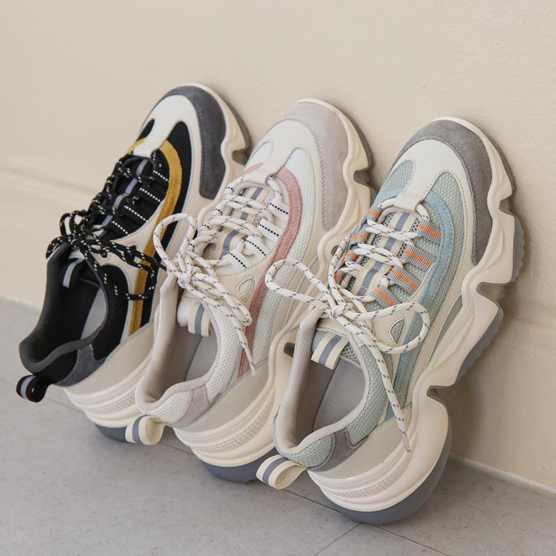 clicknfunny-[멜킨소가죽 스니커즈]♡韓國女裝鞋