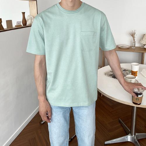 modernsweet-실켓 포켓 반팔 티셔츠 10color - 모던스윗(modernsweet)♡韓國男裝上衣