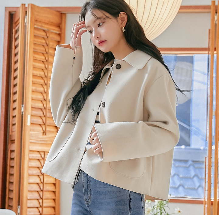 common-unique--지엔 울 포켓 카라 자켓♡韓國女裝外套