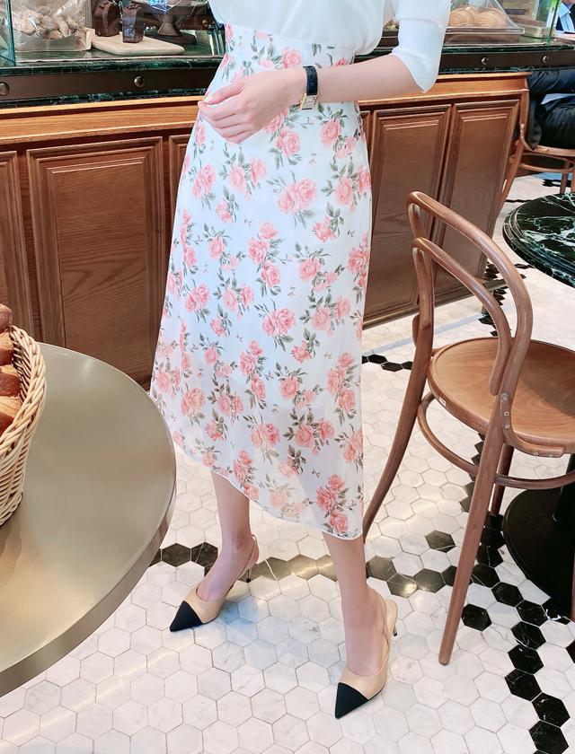 babirolen-[로즈 플라워-sk]♡韓國女裝裙