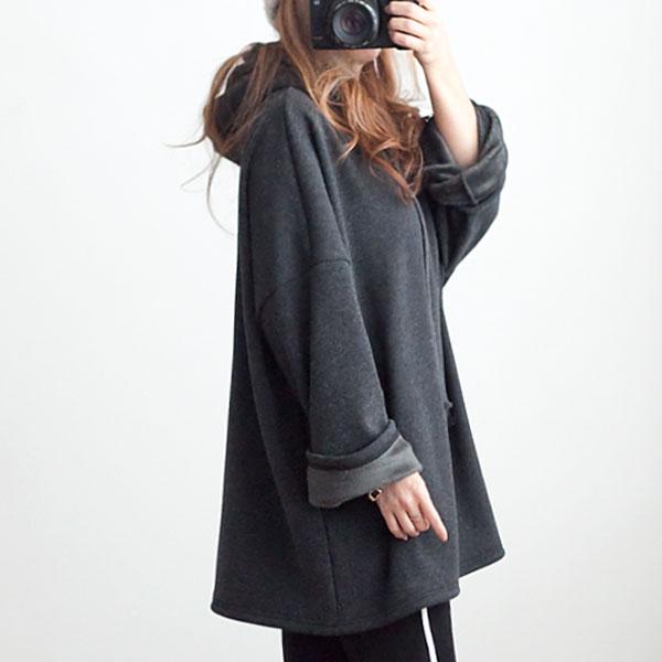missylook-[밍크 망또 후드티]♡韓國女裝上衣