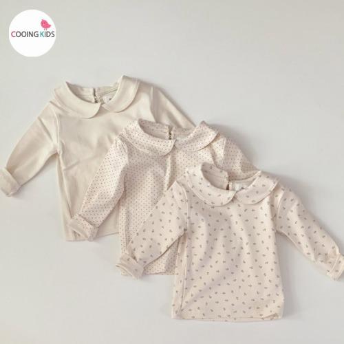 cooingkids-E둥근카라기본티 아기 유아 아동 여아 티셔츠♡韓國童裝上衣