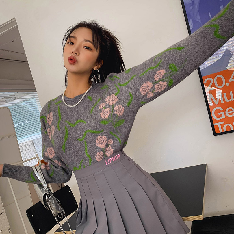 liphop-[로즈퍼프니트]♡韓國女裝上衣