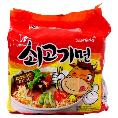 【清貨特價】三養 ♥ 牛肉湯拉麵 (4包裝)  (食品到期日 : 30/04/2021)
