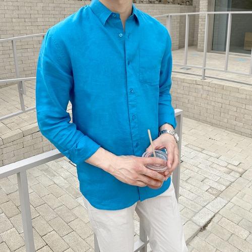 modernsweet-프레쉬 린넨 카라 셔츠 14color - 모던스윗(modernsweet)♡韓國男裝上衣