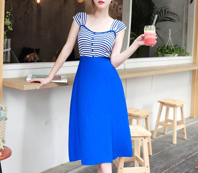 myfiona-블루피크닉*set/m8574 - 로맨틱 러블리 피오나♡韓國女裝套裝