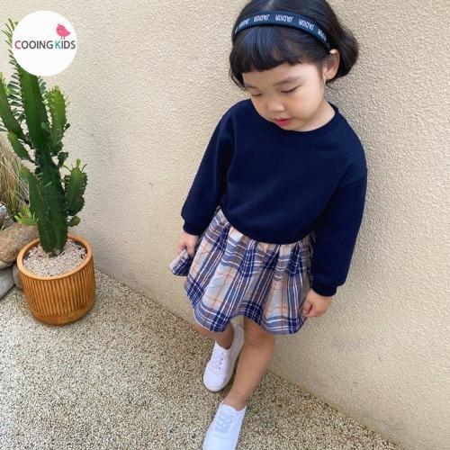 cooingkids-D우리둘이체크원피스♡韓國童裝連身裙