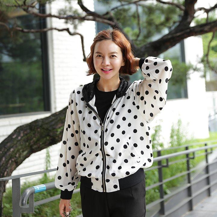 lemite-도트땡 집업♡韓國女裝外套