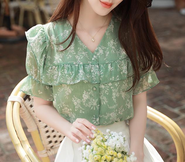 myfiona-오로라플라워*blouse/a0548 - 로맨틱 러블리 피오나♡韓國女裝上衣
