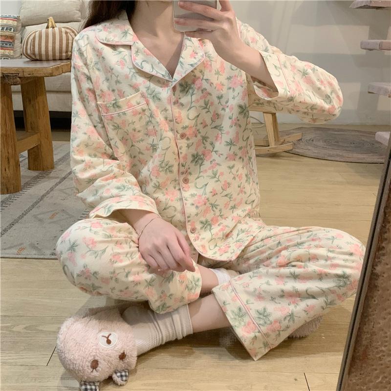1015mk-플라워 파자마 세트♡韓國女裝睡衣套裝