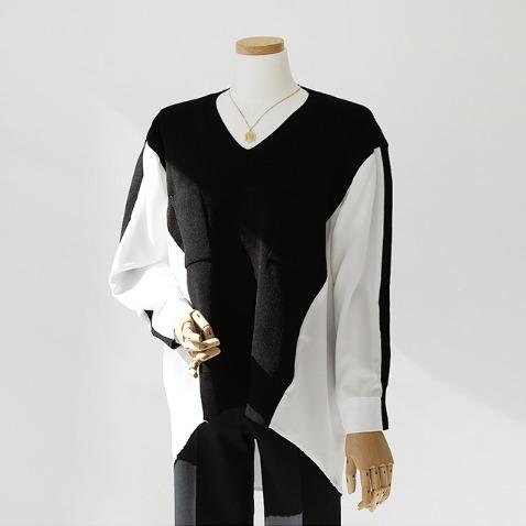 jooen-레이어드 포켓 니트 셔츠♡韓國女裝上衣