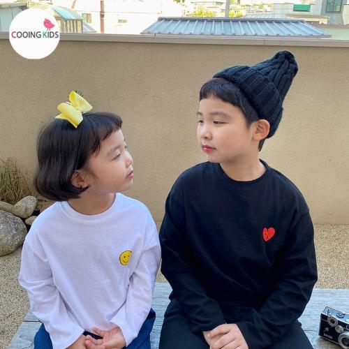 cooingkids-D스마일&하트티♡韓國童裝上衣