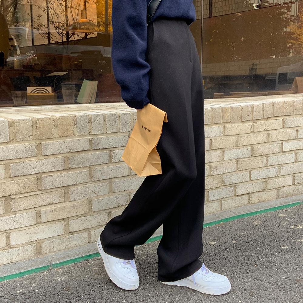 blackup-(BLACKUP) 라버드 스트레이트 슬랙스♡韓國女裝褲