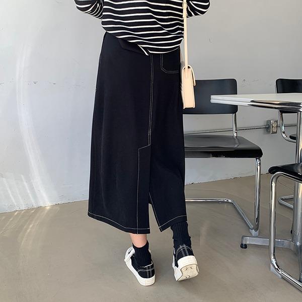 66girls-아웃스티치롱SK♡韓國女裝裙