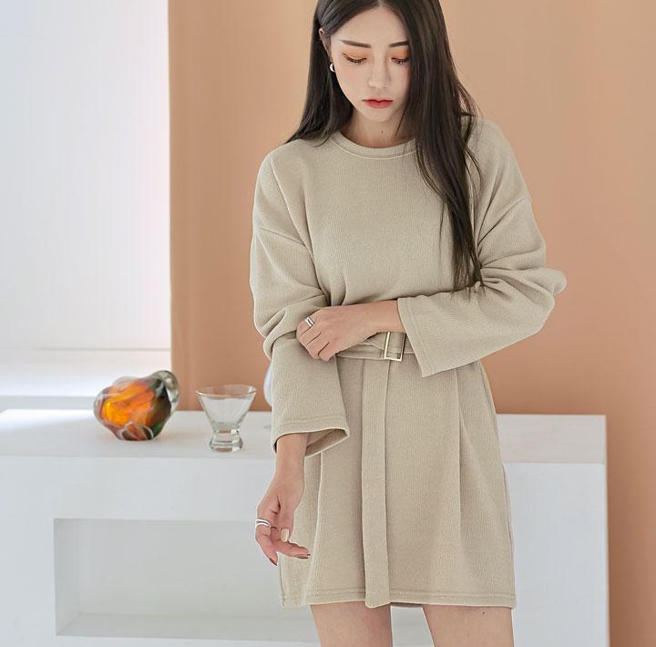 common-unique--밀러스 벨트 미니 원피스♡韓國女裝連身裙