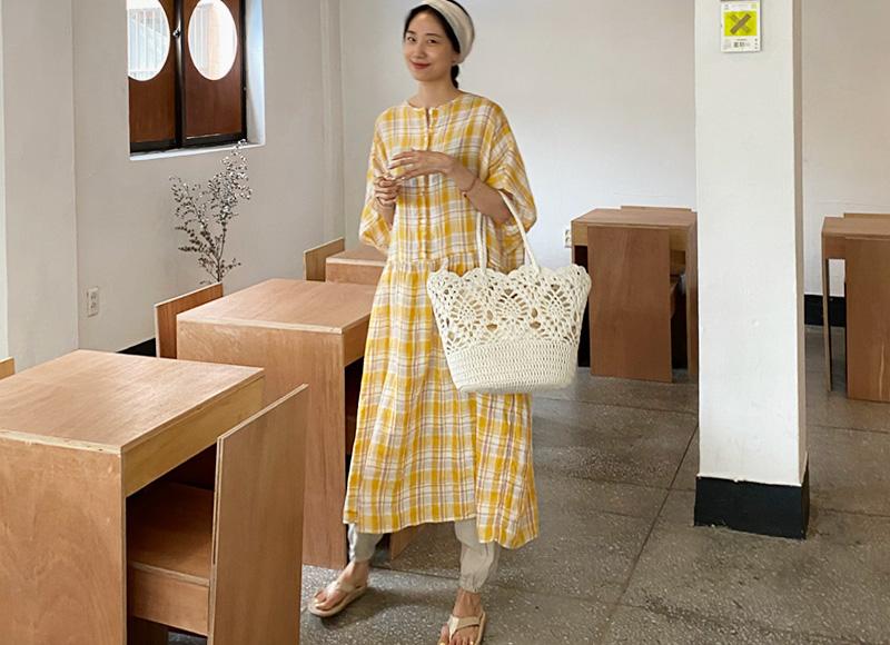sibuya-레이스 페이퍼 쇼퍼 bag[BRANDNAME]♡韓國女裝袋